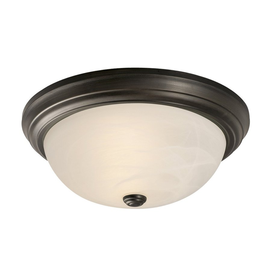 Galaxy 15-in W Oil-Rubbed Bronze Ceiling Flush Mount Light