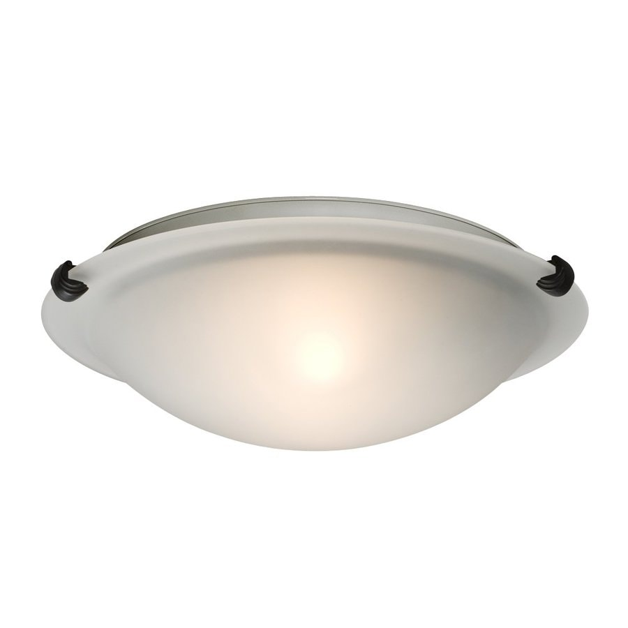 Galaxy Ofelia 12.75-in W Oil-Rubbed Bronze Ceiling Flush Mount Light