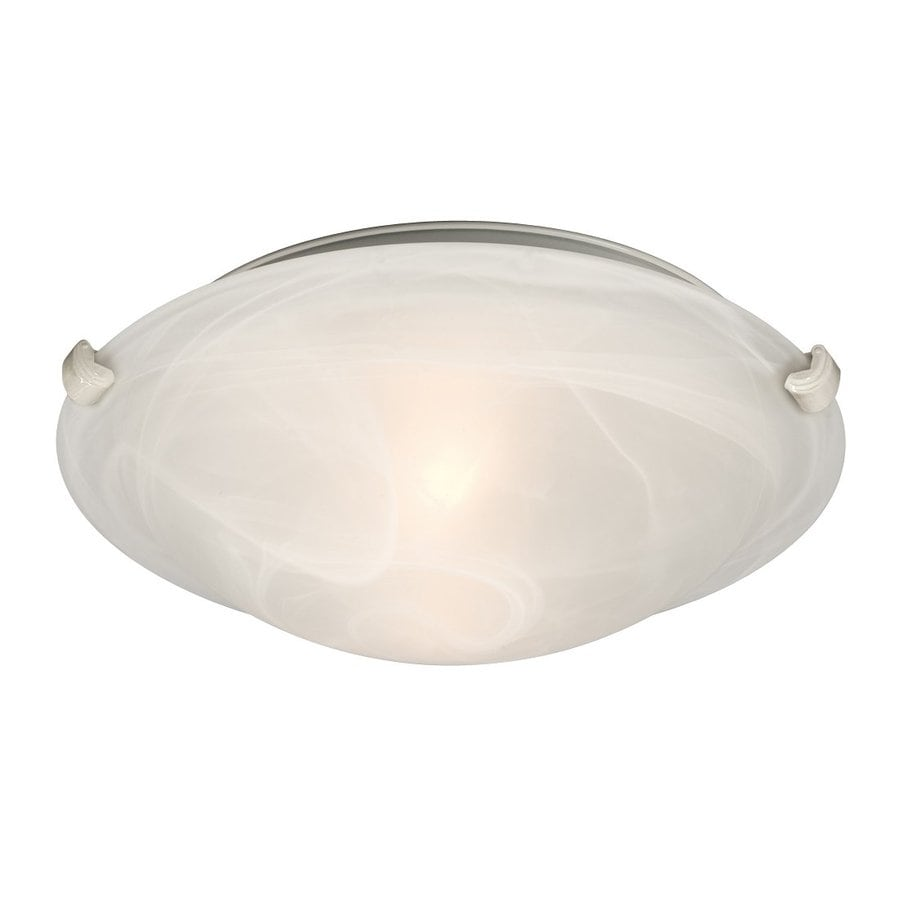 Galaxy Ofelia 12.75-in W White Ceiling Flush Mount Light