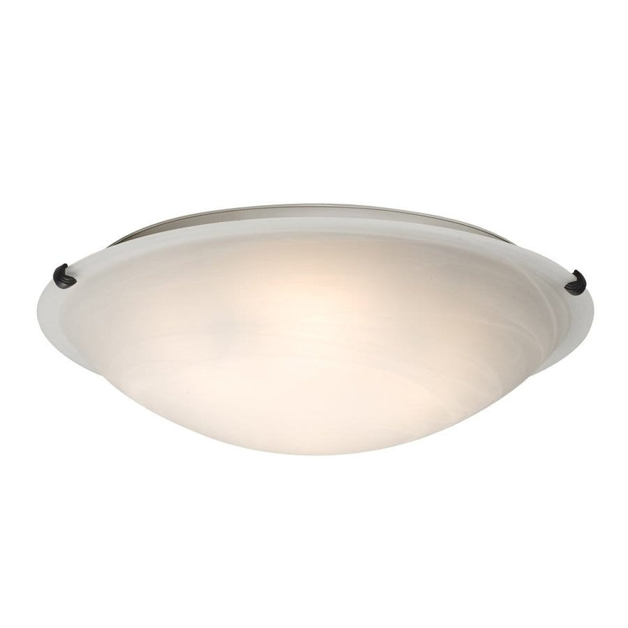 Galaxy Ofelia 20-in W Oil-Rubbed Bronze Ceiling Flush Mount Light