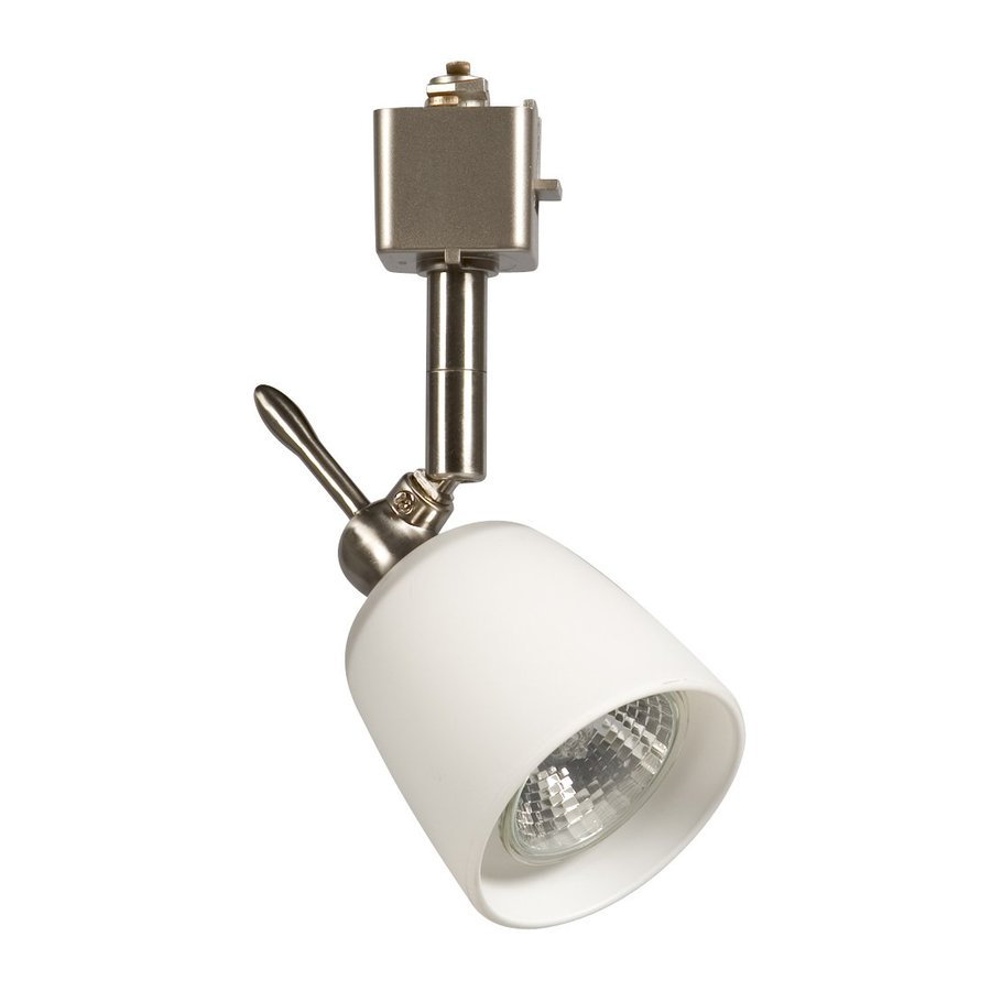 Galaxy 1-Light Dimmable Brushed Nickel Mini Linear Track Lighting Head