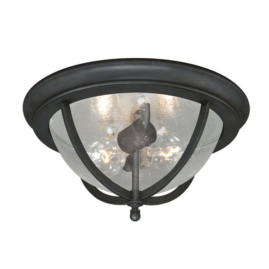 Cascadia Lighting Corsica 13-in W Oil-Rubbed Bronze Outdoor Flush-Mount Light