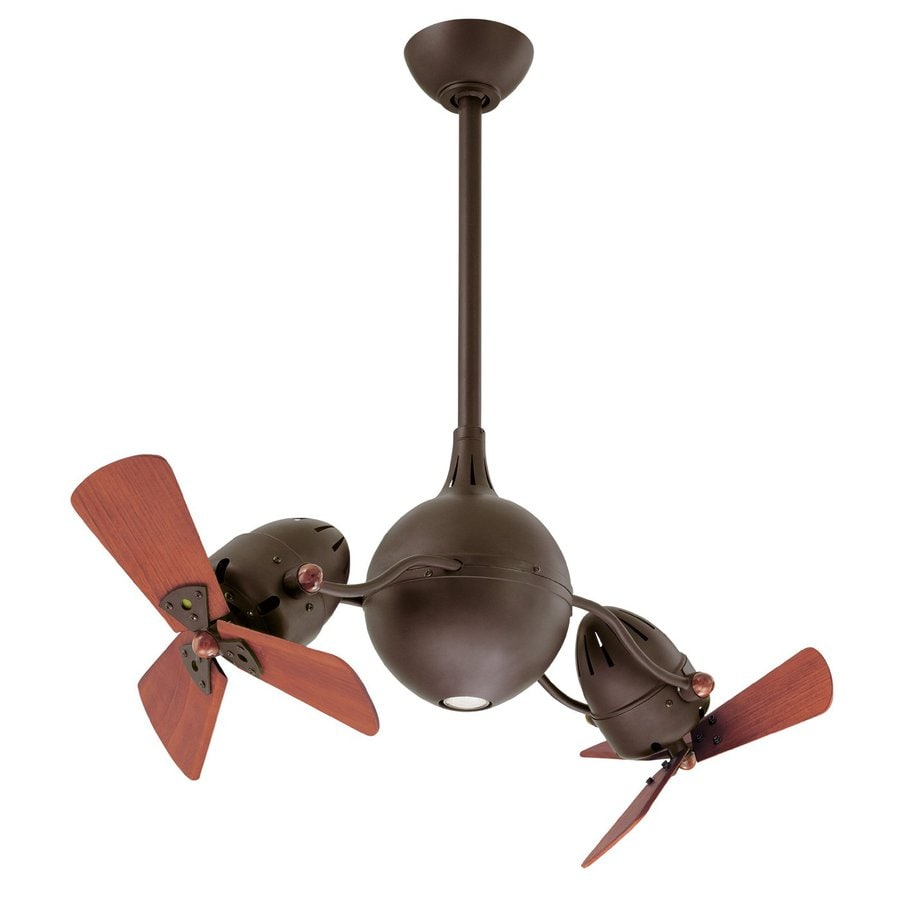 Matthews Acqua 16-in Textured Bronze Downrod Mount Indoor Ceiling Fan with Light Kit and Remote (6-Blade)