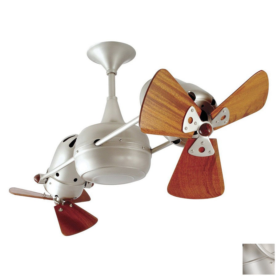 Matthews 12-in Duplo Dinamico Brushed Nickel Ceiling Fan
