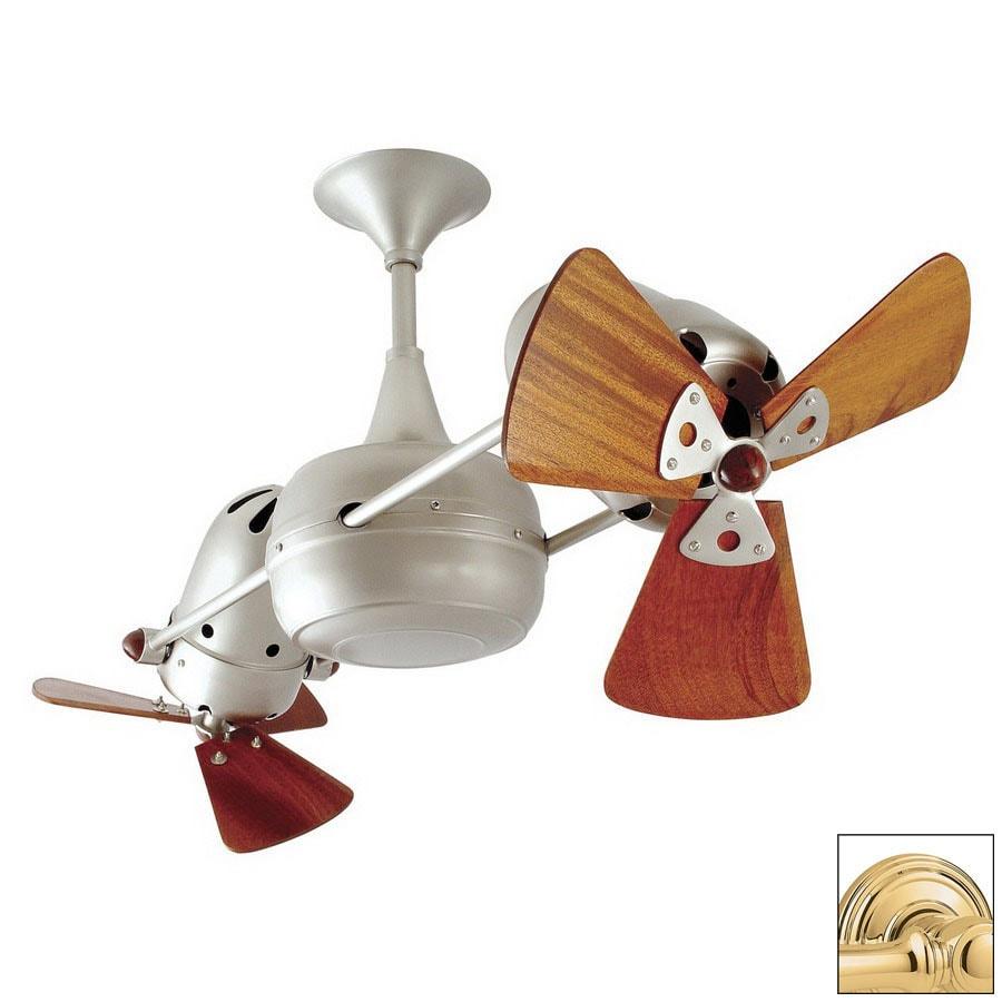 Matthews 13-in Duplo Dinamico Polished Brass Ceiling Fan