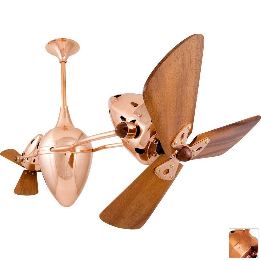 Matthews 13-in AR Ruthiane Polished Copper Ceiling Fan
