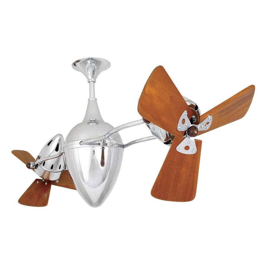 Matthews Ar Ruthiane 16-in Polished Chrome Downrod Mount Ceiling Fan (6-Blade)