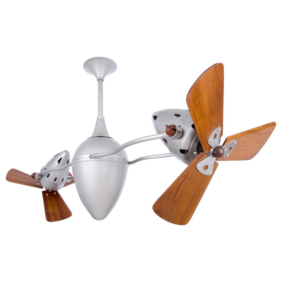 Matthews Ar Ruthiane 16-in Brushed nickel Indoor Downrod Mount Ceiling Fan (6-Blade)
