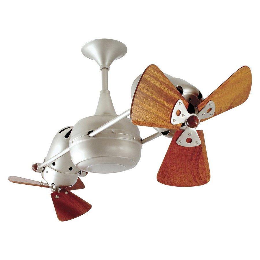 Matthews Duplo Dinamico 12-in Brushed nickel Indoor Downrod Mount Ceiling Fan (6-Blade)