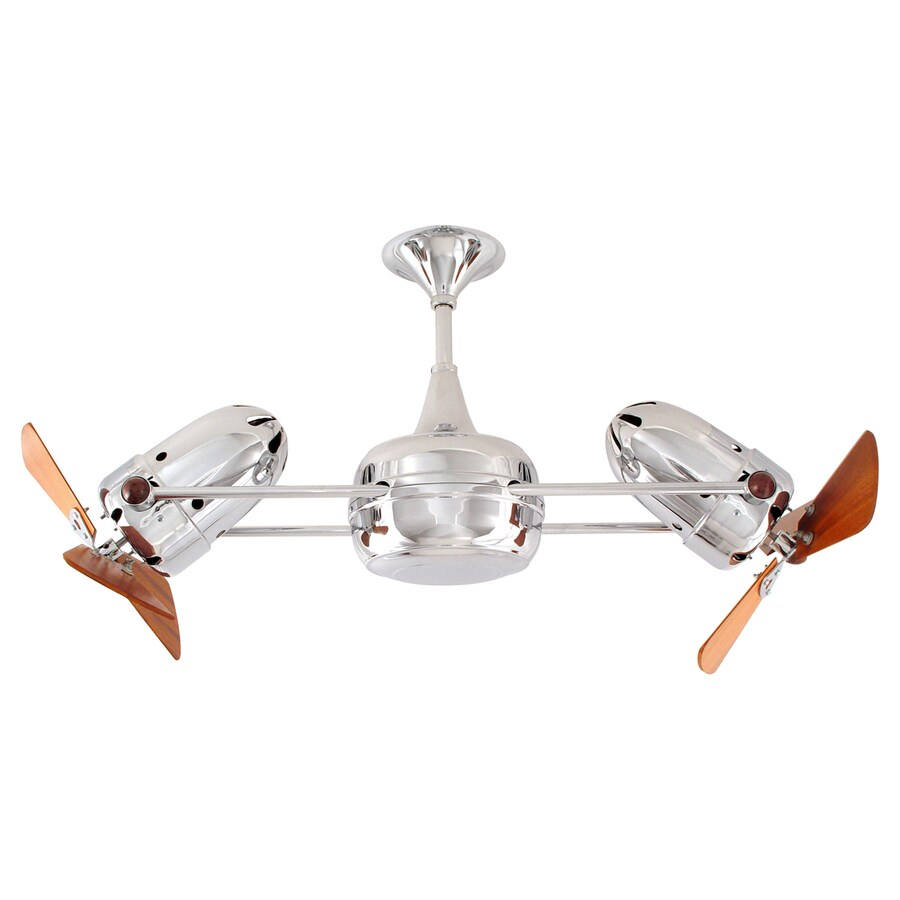 Matthews Duplo Dinamico 12-in Chrome Downrod Mount Ceiling Fan