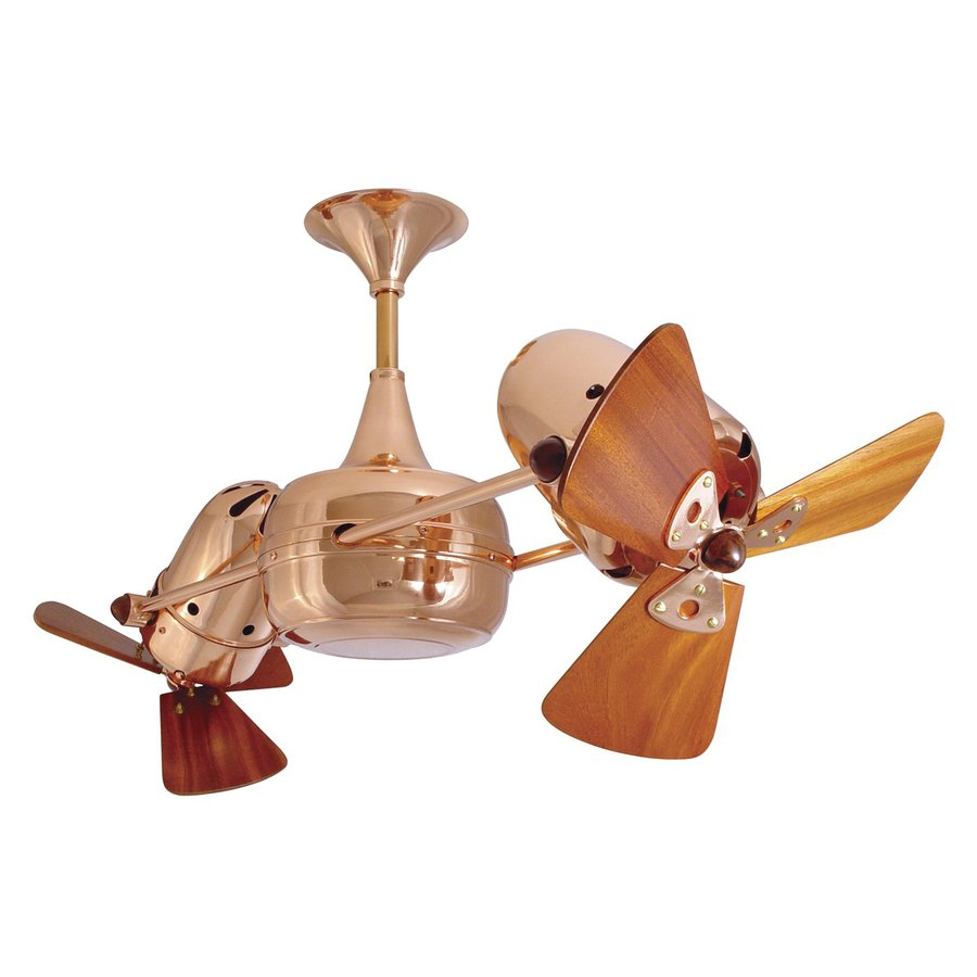 Matthews Duplo Dinamico 12-in Polished Copper Indoor Downrod Mount Ceiling Fan Adaptable