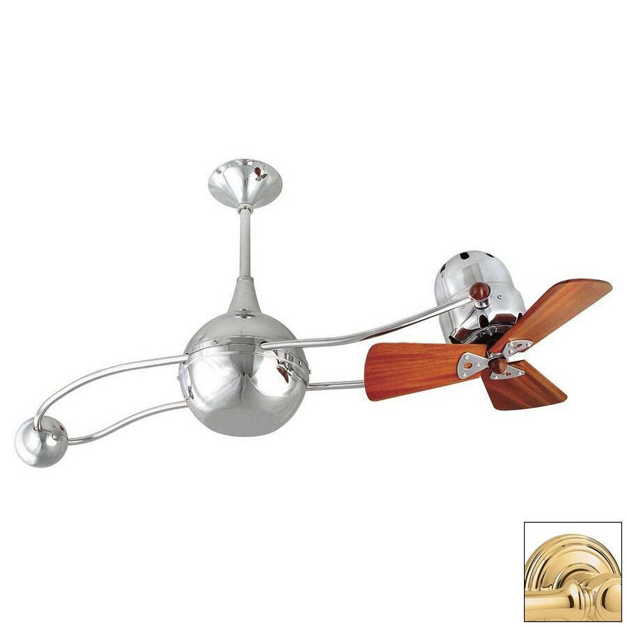 Matthews 16-in Brisa 2000 Polished Brass Ceiling Fan