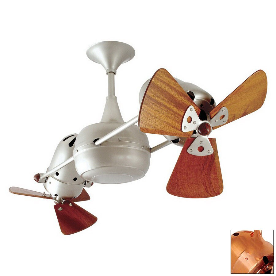 Matthews 13-in Vent Bettina Polished Copper Ceiling Fan