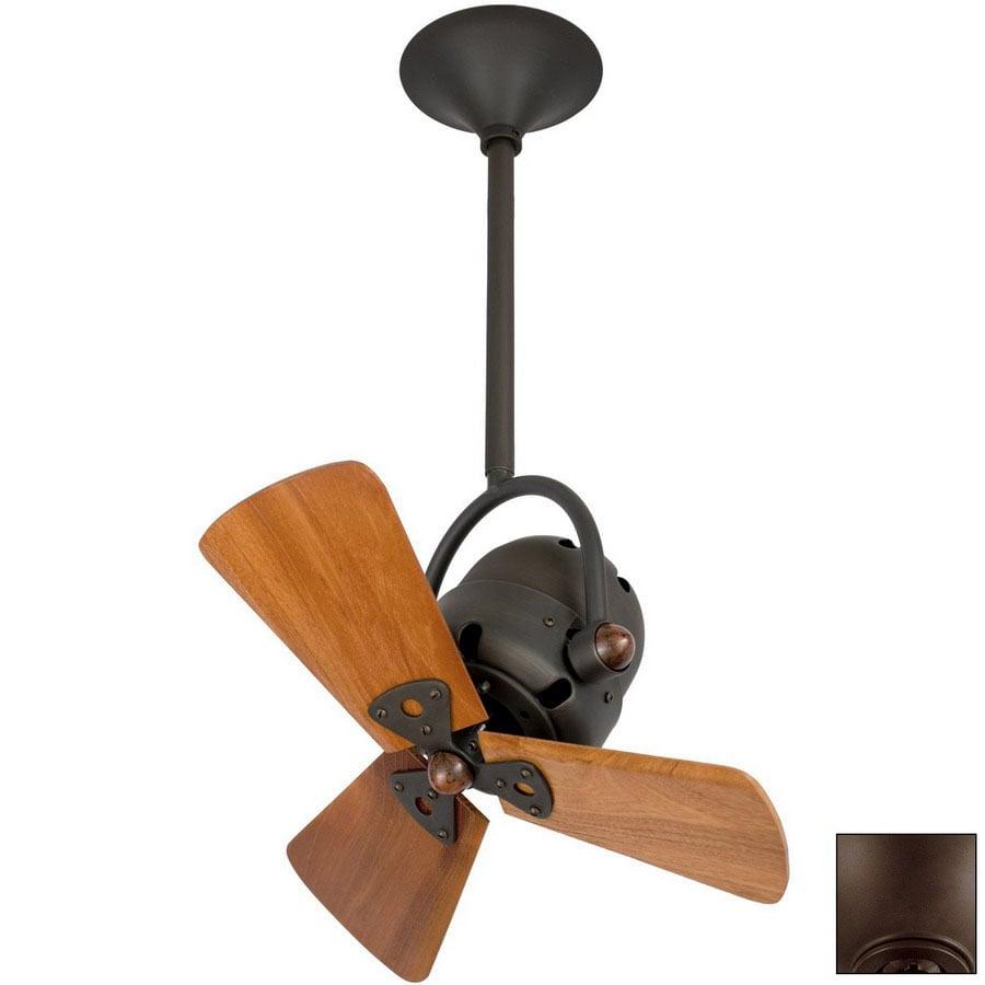 Matthews 16-in Bianca Directional Bronze Ceiling Fan with Light Kit