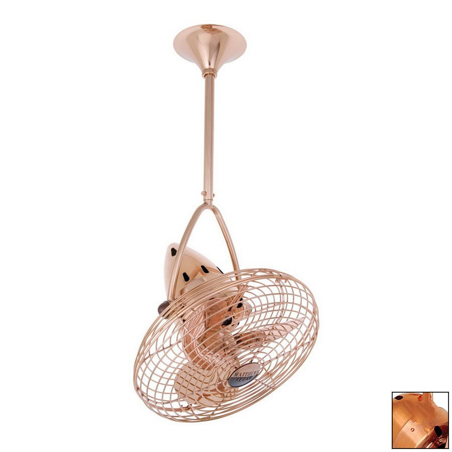 Shop matthews 16 in jarold directional polished copper ceiling fan matthews 16 in jarold directional polished copper ceiling fan aloadofball Image collections
