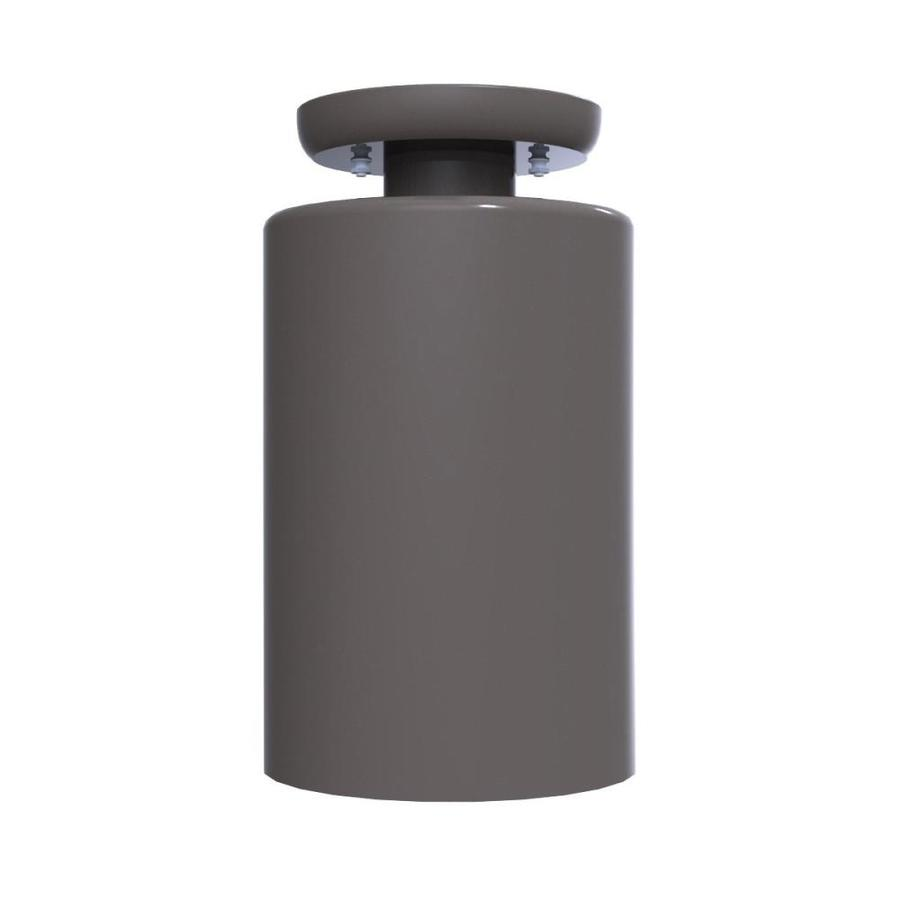 Shop Remcraft Lighting Cylinders 5.875-in W Black No Glass Semi-Flush Mount Light at Lowes.com