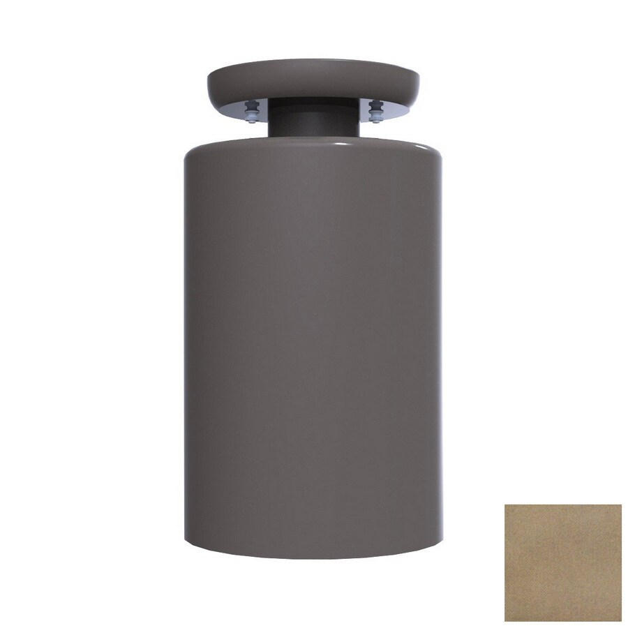 Remcraft Lighting Cylinders 5.875-in W Satin Aluminum Semi-Flush Mount Light