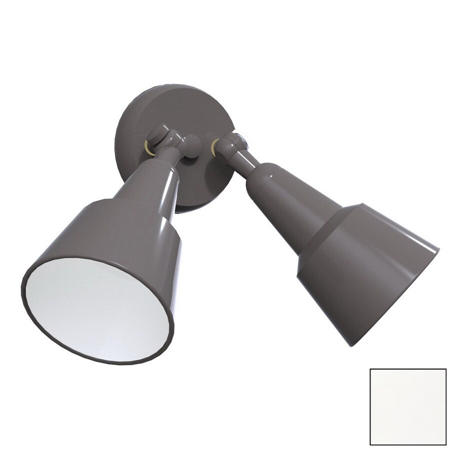 Remcraft Lighting Swedish Modern W White Outdoor Flush-Mount Light