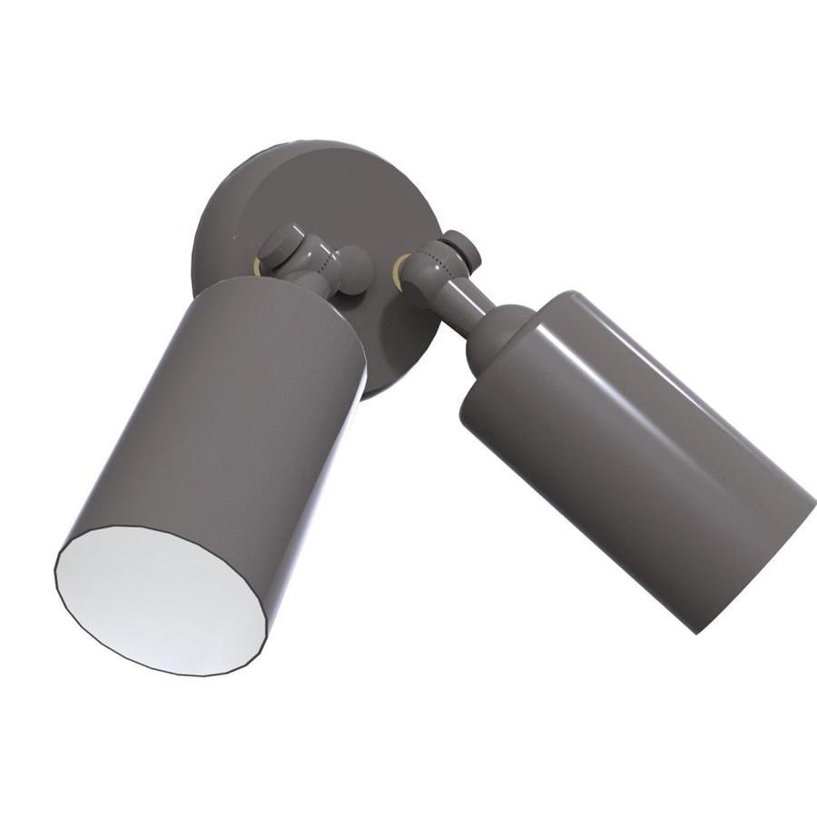Remcraft Lighting Cylinders W Satin Aluminum Outdoor Flush-Mount Light