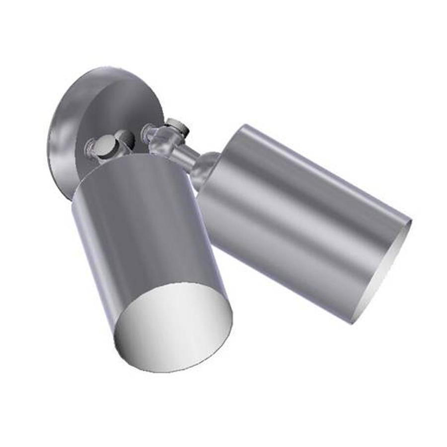 Remcraft Lighting Cylinders W Satin Aluminum Outdoor Flush-Mount Light