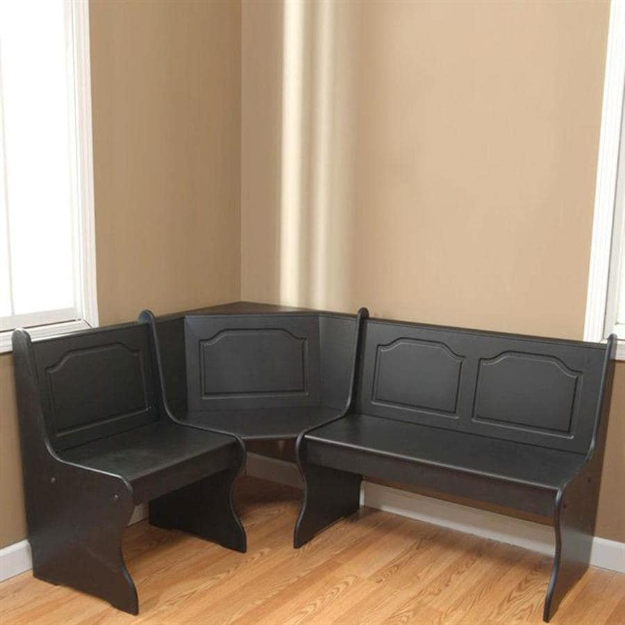 TMS Furniture Nook Black Corner Dining Bench