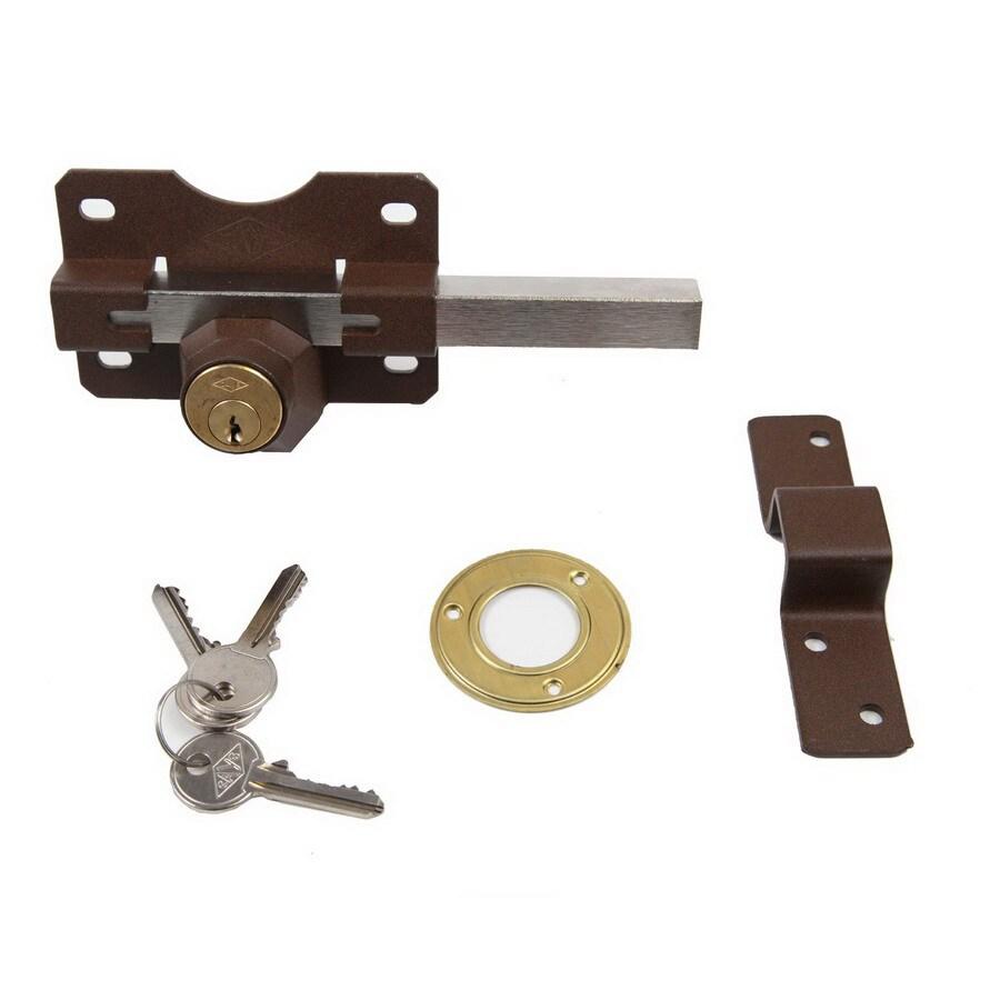 Gatemate Nickel Double-Cylinder Rim Lock