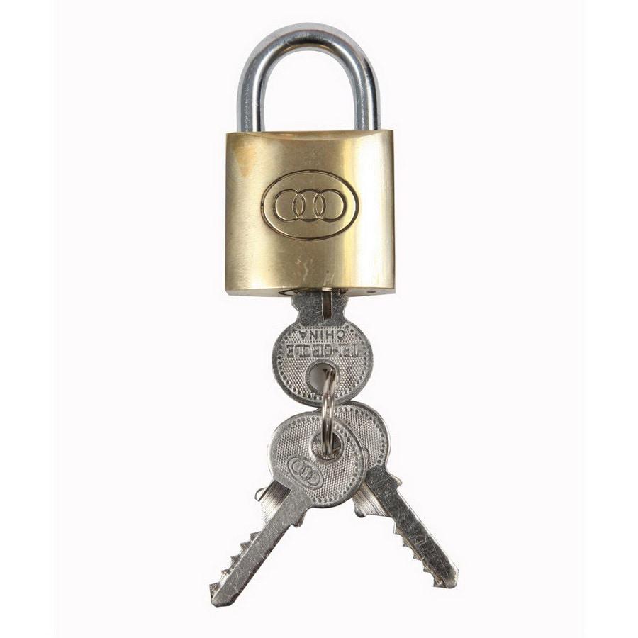 Gatemate Brass Shackle Keyed Padlock