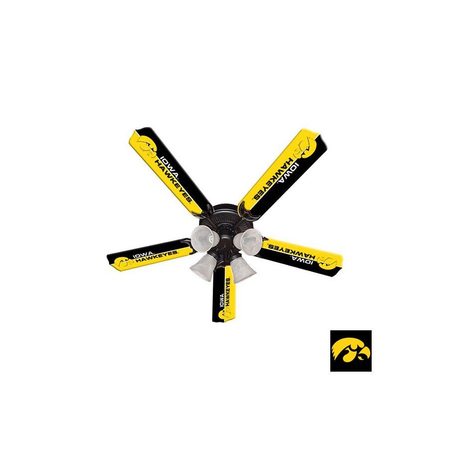 Sports Fan Products NCAA/Collegiate 52-in Downrod Mount Ceiling Fan with Light Kit
