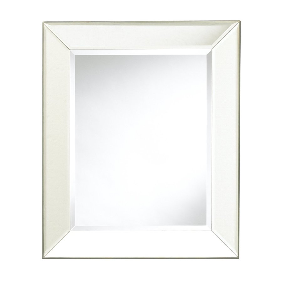 Cooper Classics Porter 20-in x 24-in Beveled Rectangle Frameless Transitional Wall Mirror