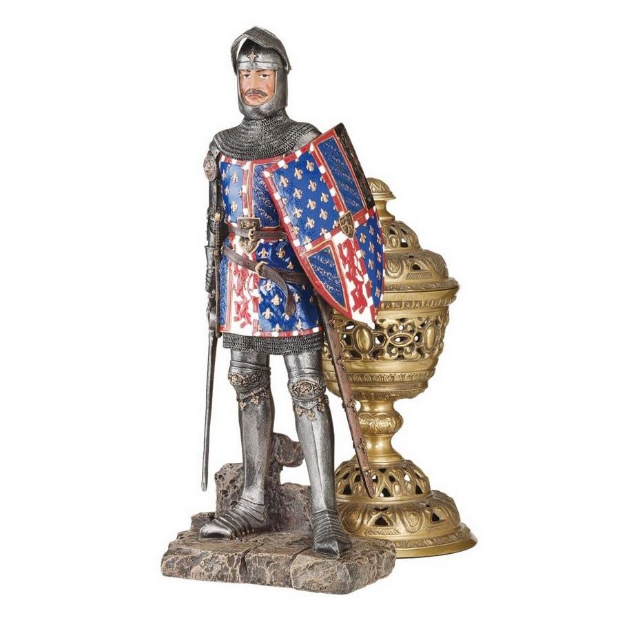 Design Toscano Rectangular Fourteenth Century Crusader Knight