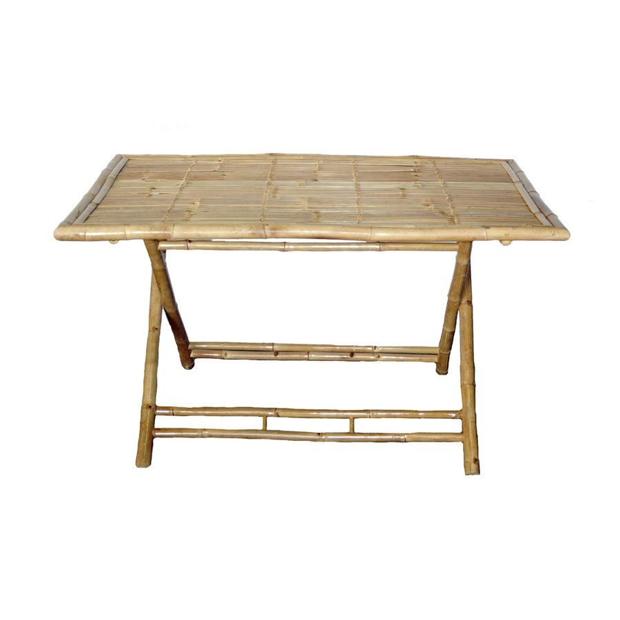 Shop bamboo 54 wood dining table at for Table table restaurants locations