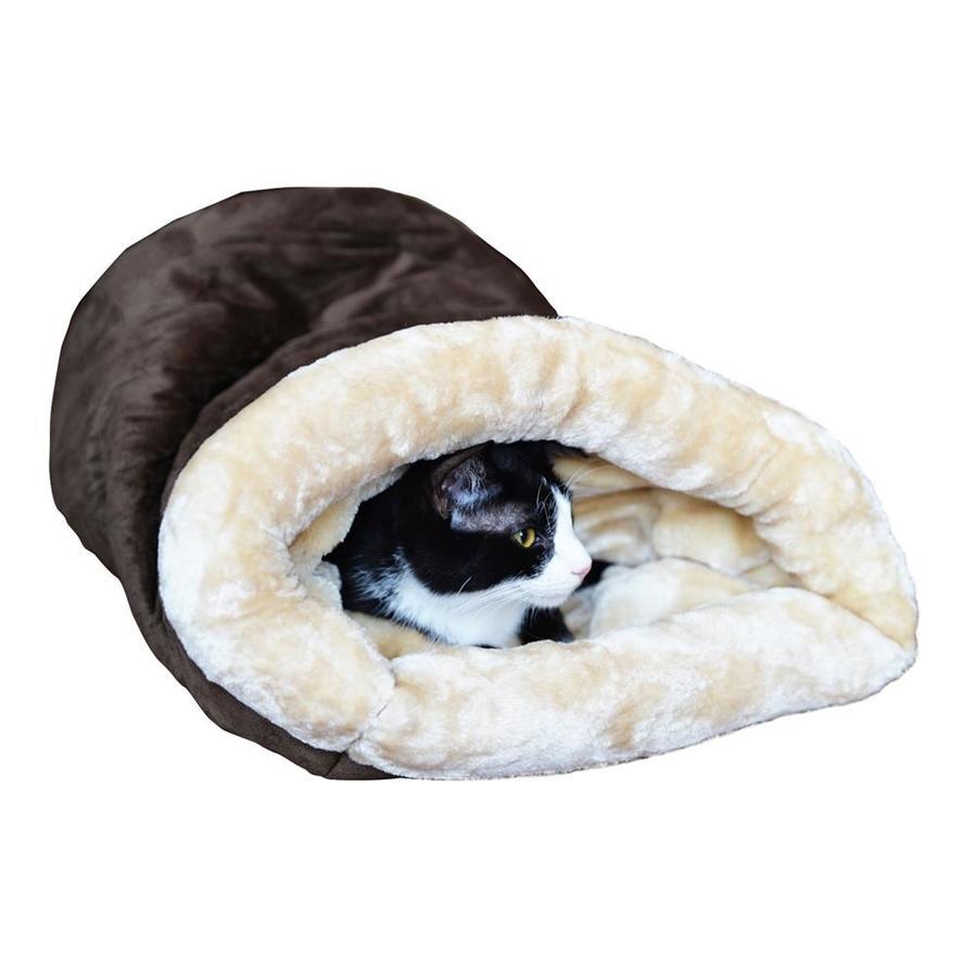 Armarkat Mocha/Beige Faux Suede and Faux Fur Cat Bed