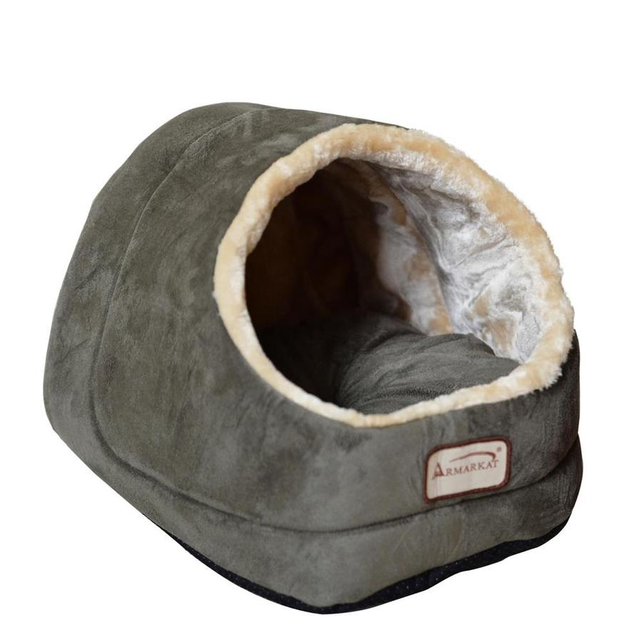 Armarkat Laurel Green/Beige Faux Suede and Faux Fur Cat Bed