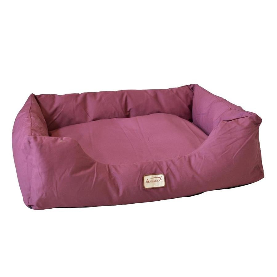 Armarkat Burgundy Canvas Rectangular Dog Bed