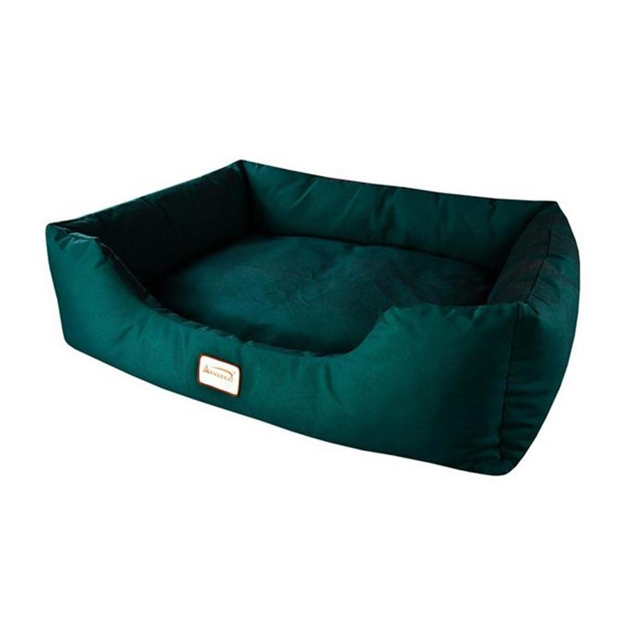 Armarkat Laurel Green Canvas Rectangular Dog Bed