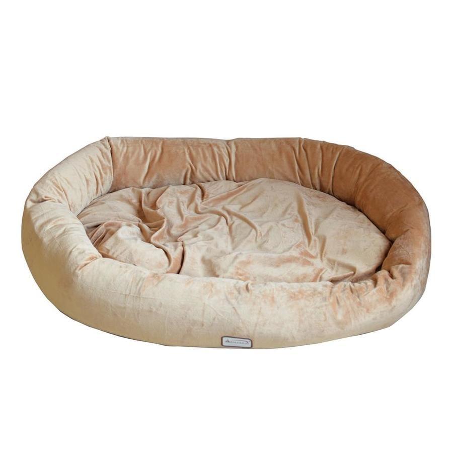 Armarkat Brown Soft Velvet Oval Dog Bed