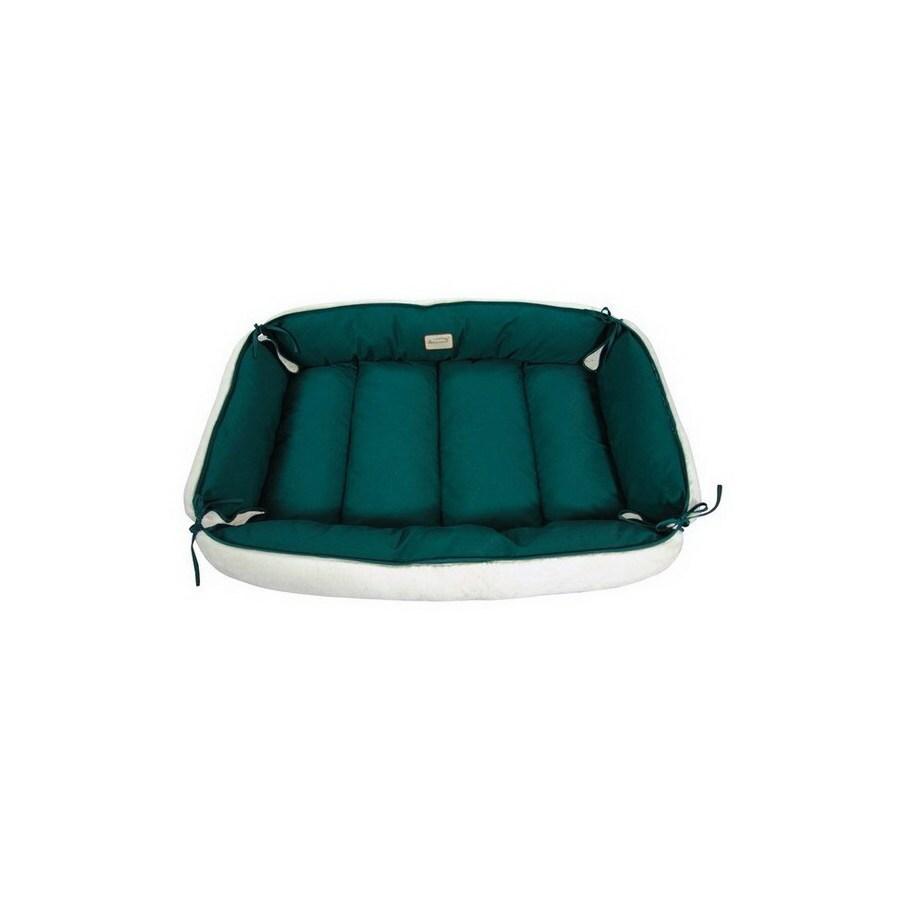 Armarkat Laurel Green/Ivory Canvas and Soft Plush Rectangular Dog Bed