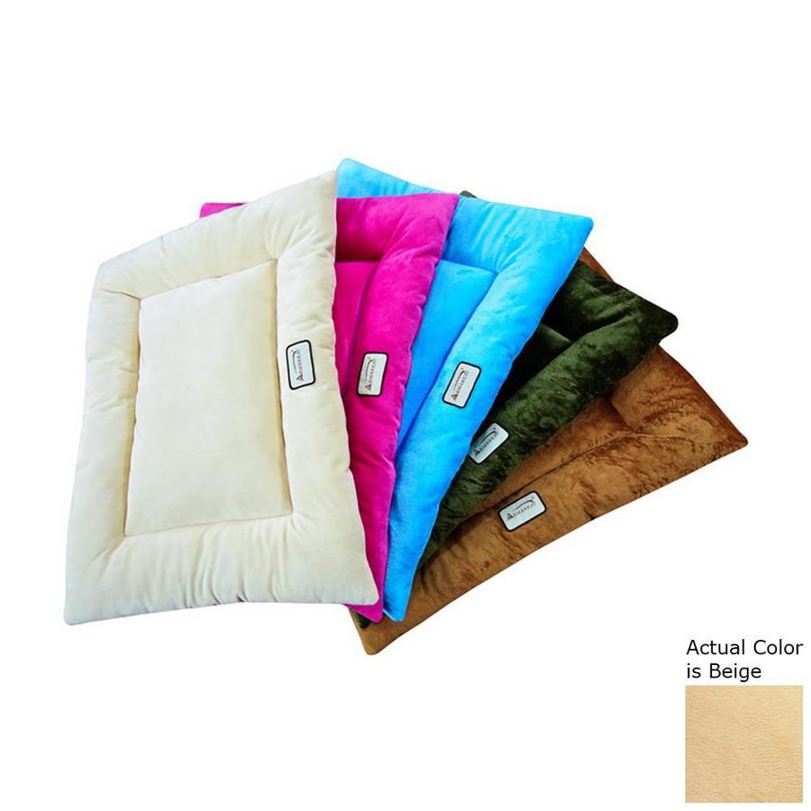 Armarkat Beige Soft Velvet Rectangular Dog Bed