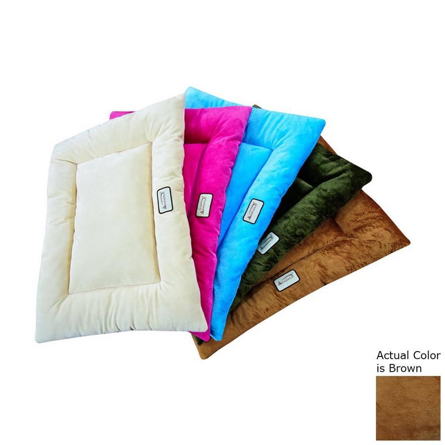 Armarkat Brown Soft Velvet Rectangular Dog Bed