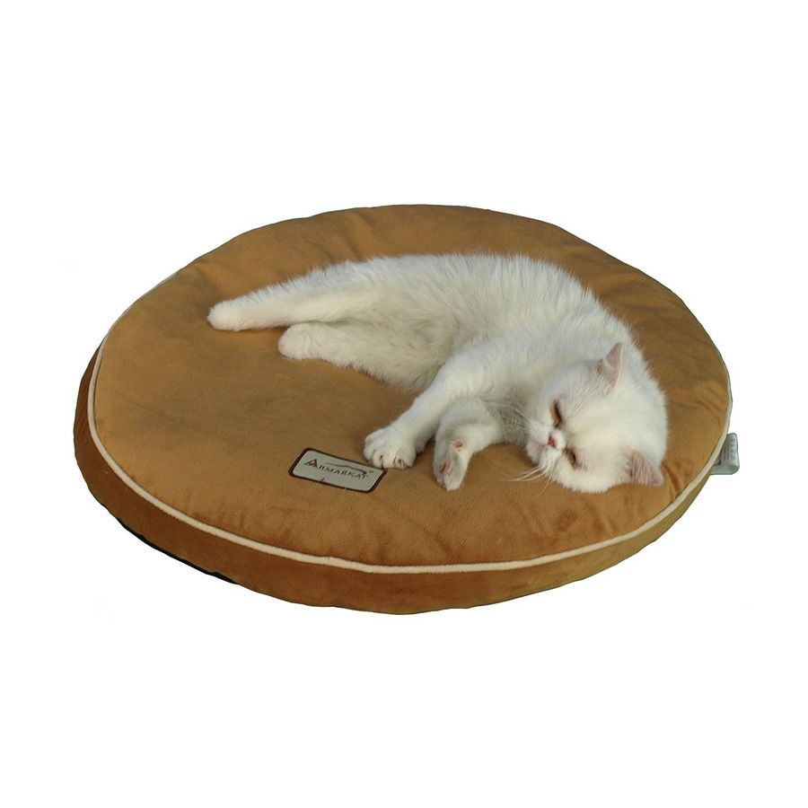 Armarkat Brown Soft Velvet Round Dog Bed