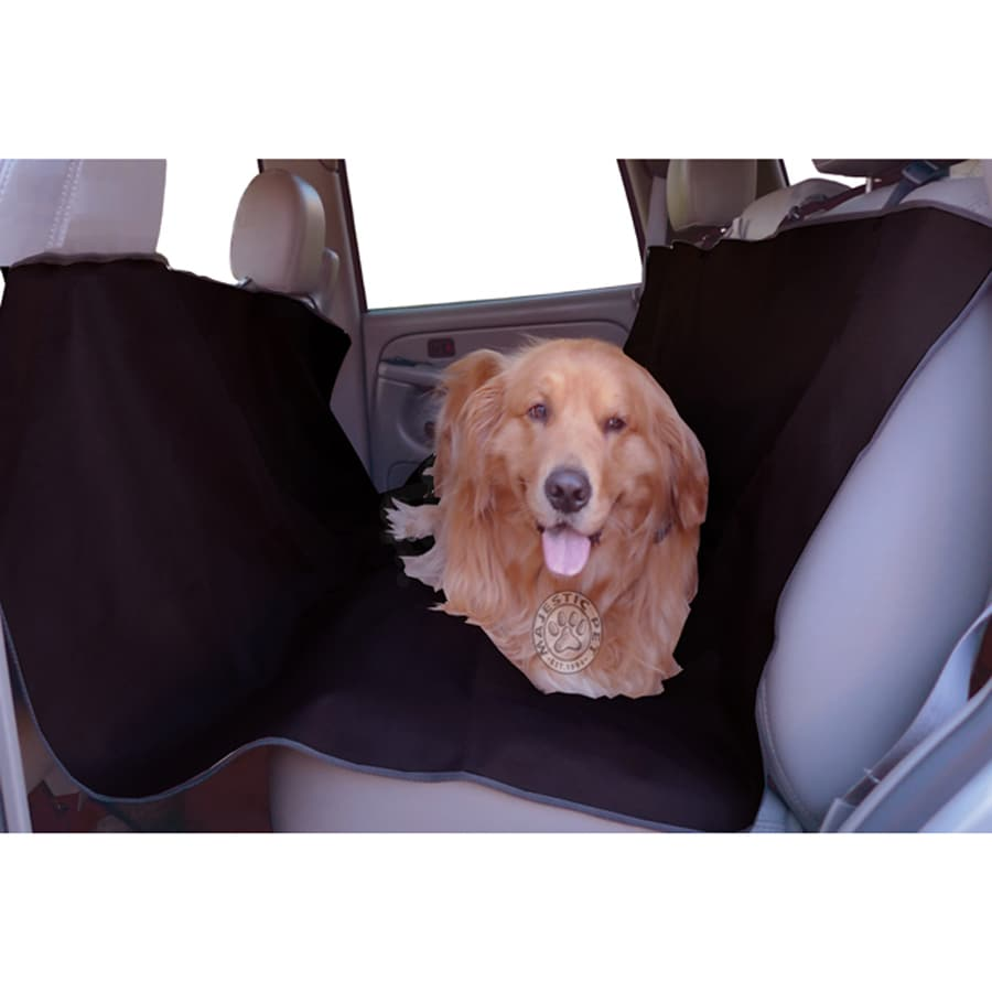 Majestic Pets 58-in Black Fabric Dog Car Seat Cover