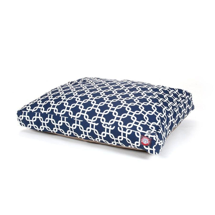 Majestic Pets Navy Blue Polyester Rectangular Dog Bed