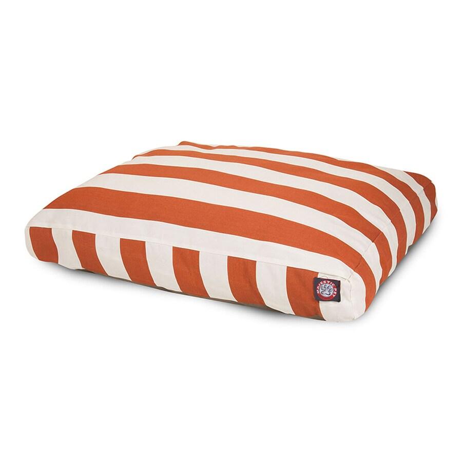 Majestic Pets Burnt Orange Polyester Rectangular Dog Bed