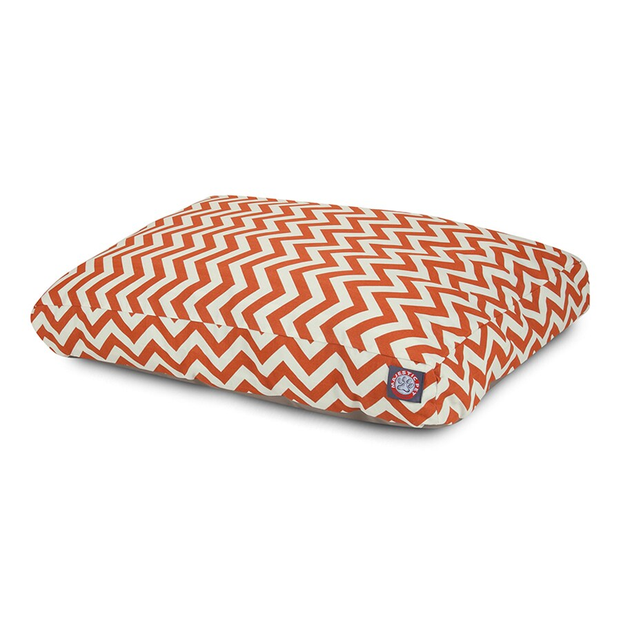 Majestic Pets Burnt Orange Polyester Rectangular Dog Bed