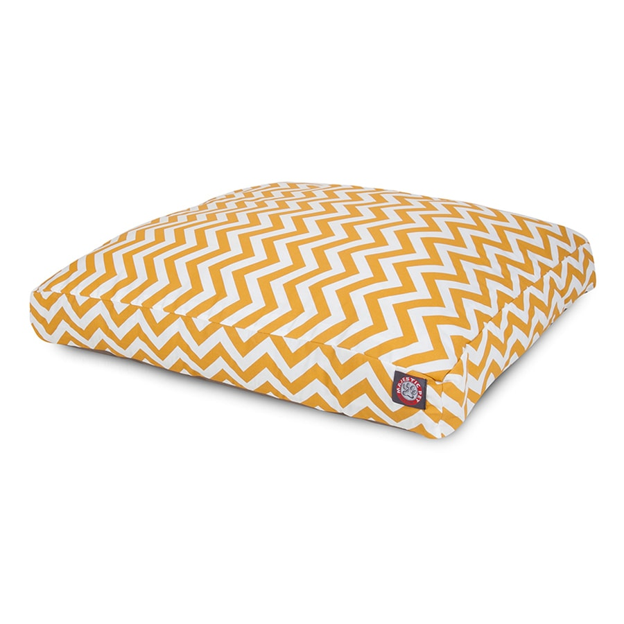 Majestic Pets Yellow Polyester Rectangular Dog Bed