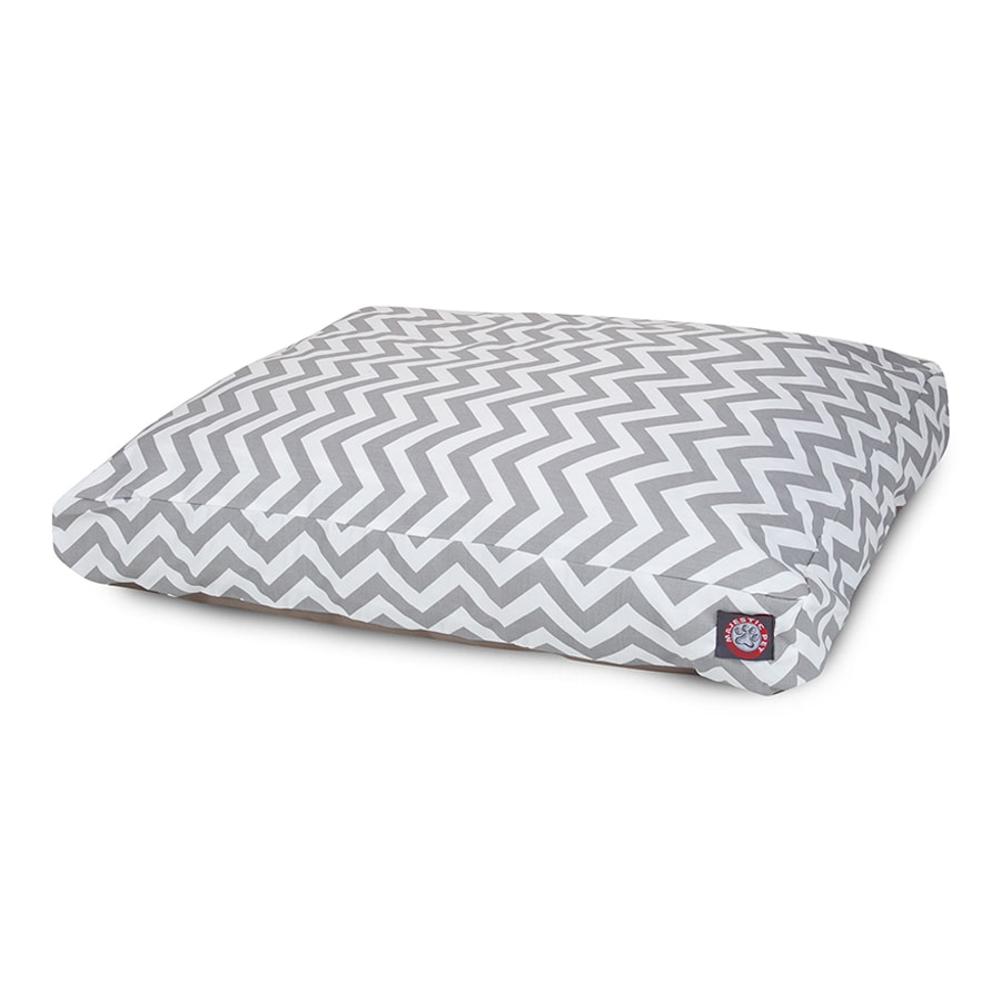 Majestic Pets Gray Polyester Rectangular Dog Bed