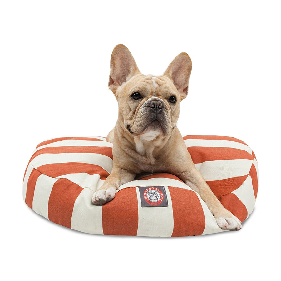 Majestic Pets Burnt Orange Polyester Round Dog Bed