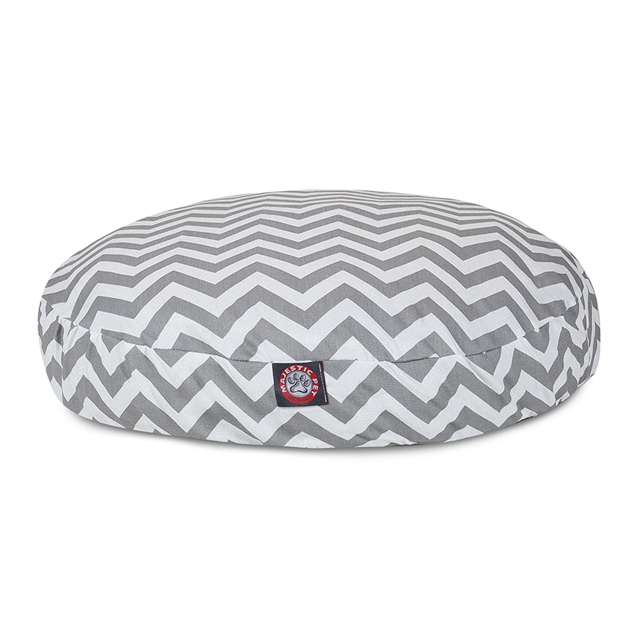 Majestic Pets Gray Polyester Round Dog Bed
