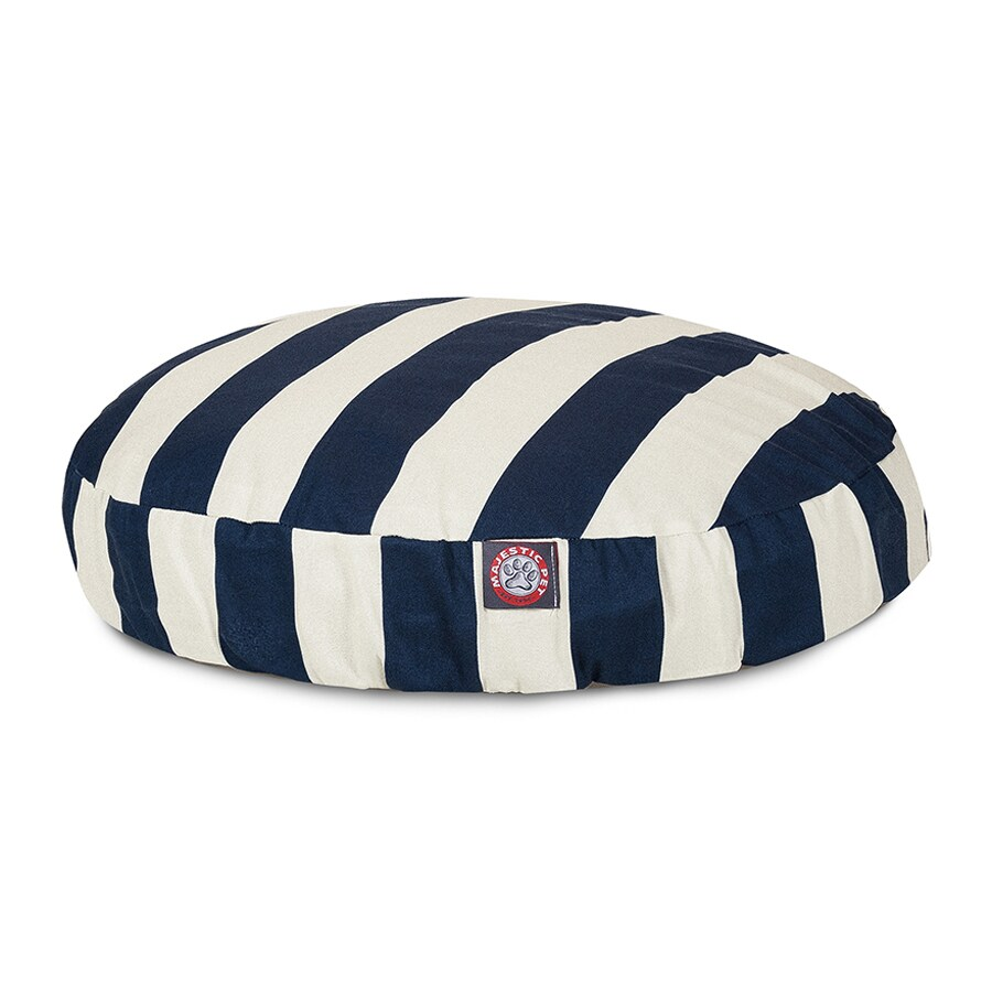 Majestic Pets Navy Blue Polyester Round Dog Bed