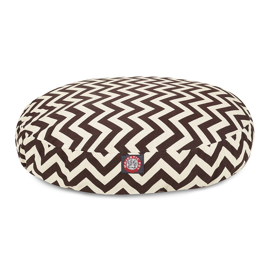 Majestic Pets Chocolate Polyester Round Dog Bed